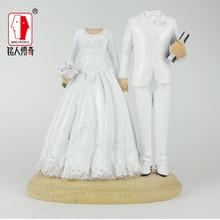 Wedding Cake Topper custom avatar wedding gift customized real doll custom clay dolls fixed resin body SR166