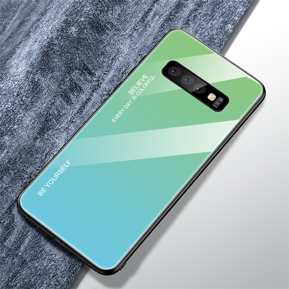 For Samsung Galaxy S10 Plus S10 Lite Case Gradient Tempered Glass Phone Cases For Samsung S10 S9 S8 Plus Note 9 Note 8 Cover     (21)