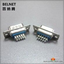 High-quality VGA plug 15-pin / hole Three rows DB15 female DB15 male welding head VGA connector VGA plug brass contact 10pcs/lot