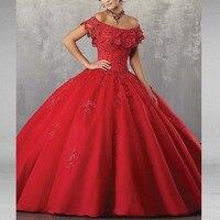 Красный бальное платье бальные платья аппликации сладкий 16 лет для 15 день рождения Vestido De 15 Anos