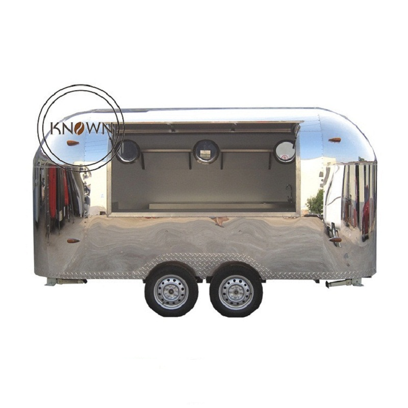 Stainless Steel Mobile Food Trailer Street Fast Food Cart For Sale