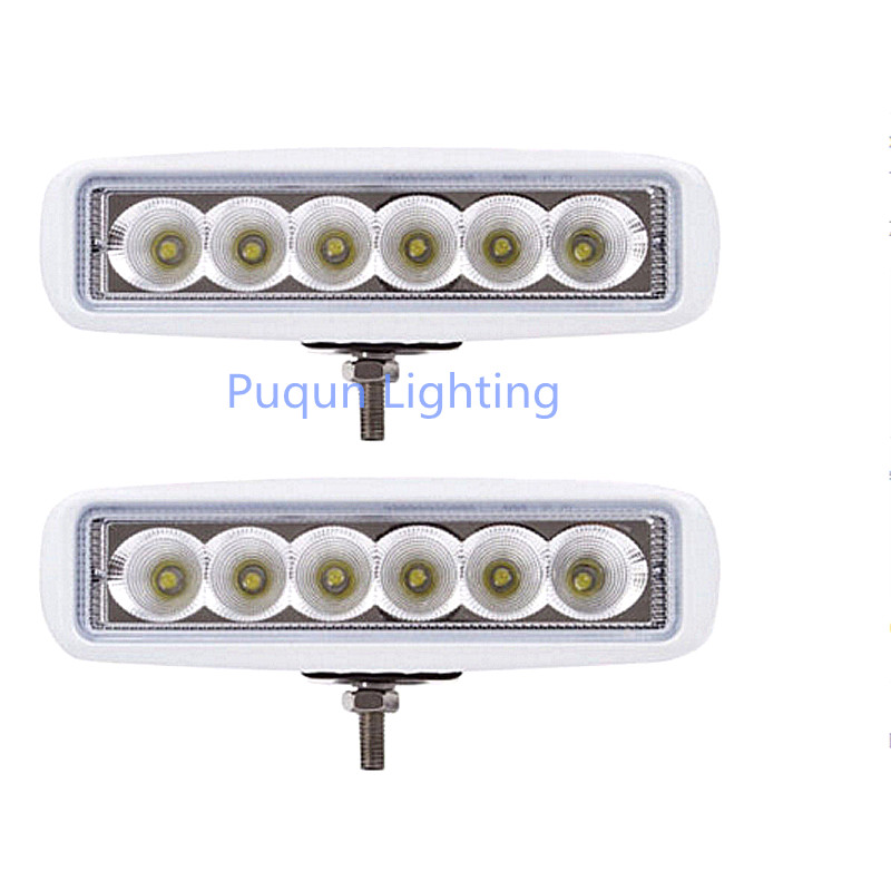 (Set of 2) White Spreader Deck Led Marine Lights for Boat (Flood Light) 12v