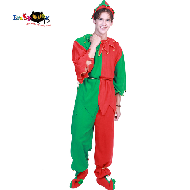 Eraspooky 2018 New Christmas Costume Men Santa Claus Costume Santa Cosplay  Women Plus Size Elf Set - Eraspooky 2018 New Christmas Costume Men Santa Claus Costume Santa