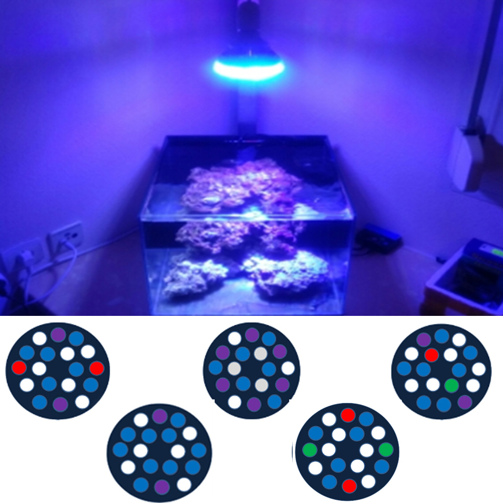 54W Full Spectrum LED Aquarium Lighting E27 Acquario Luce LED PAR38 Coral Reef Usato LED Light for Planted Aquariums Refugiums