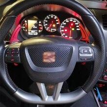 עבור מושב אלהמברה Ateca ליאון MK3 5F FR אלומיניום סגסוגת Shift משוט הגה הארכת שיפטר
