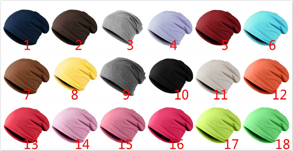 Spring Women Men Unisex Knitted Winter Cap Casual Beanies Solid Color Hip-hop Snap Slouch Skullies Bonnet beanie Hat Gorro 1