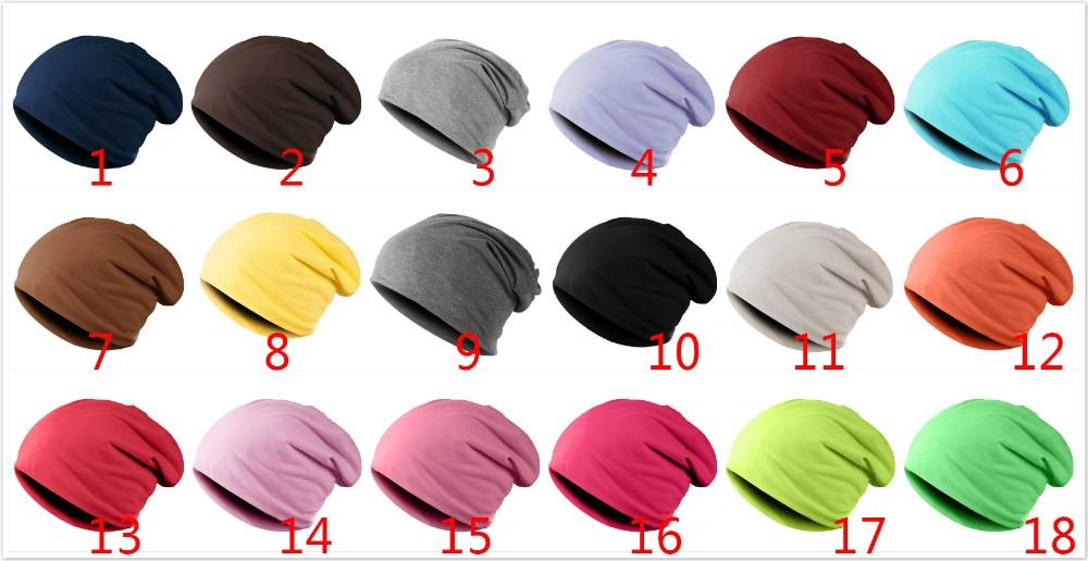 Spring Women Men Unisex Knitted Winter Cap Casual Beanies Solid Color Hip-hop Snap Slouch Skullies Bonnet beanie Hat Gorro 1