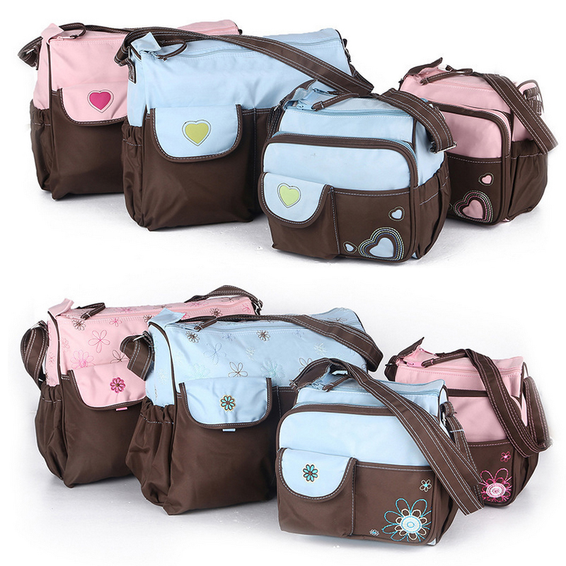 2pcs lot hot sale nappy bags baby diaper bags baby bag nappy changing bolsa maternidade baby. Black Bedroom Furniture Sets. Home Design Ideas