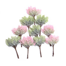 10/20pcs Mini Artificial Leaf Twig Ornaments Fake Plant Flowers Bouquet DIY Hand Wedding Christmas Decoration Garland Crafts