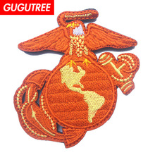GUGUTREE embroidery HOOK&LOOP patch punisher flag patches badges applique for clothing AD-386
