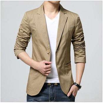 2018 New Arrival Luxury Men Blazer New Spring Fashion Brand High Quality Cotton Slim Fit Men Suit Terno Masculino Blazers Men 1
