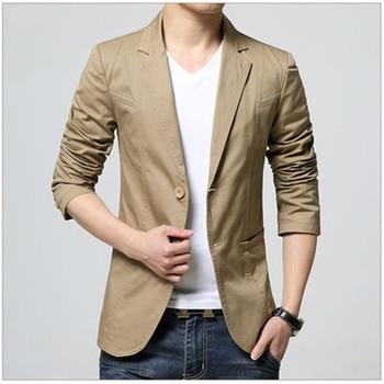 2018 Nova Chegada Homens de Luxo Blazer Nova Primavera Marca de Moda de Algodão de Alta Qualidade Slim Fit Homens Terno Terno Masculino Blazers Homens 1