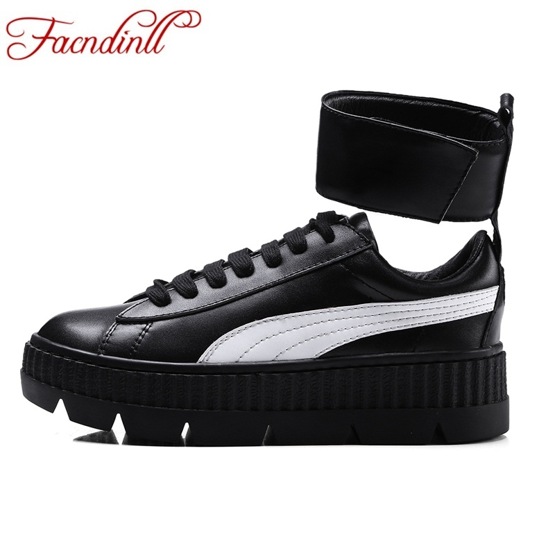 FACNDINLL new spring genuine leather women flats shoes rome style shoes women casual shoes flat heel sneaker casual autumn shoes 2016 spring and autumn women s shoes female flat heel maternity shoes genuine leather shoes flats for women