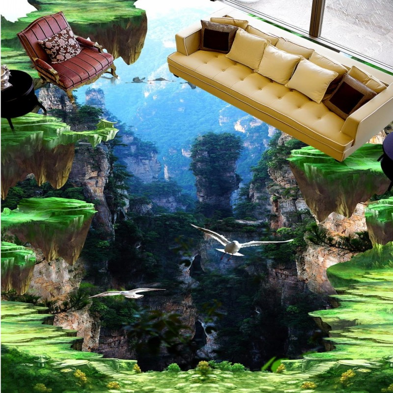 Free shipping Cliff 3D outdoor floor painting moisture proof thickened self-adhesive living room kids bedroom wallpaper mural free shipping aircraft cliff 3d painting waterproof home decoration children room bedroom floor mural self adhesive wallpaper