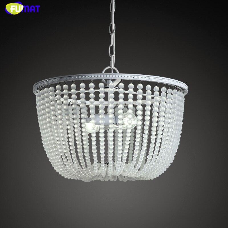 FUMAT Art créatif lustre en verre chaîne de verre rideau lumières pour salon hôtel lumières LED lampes à Suspension blanche