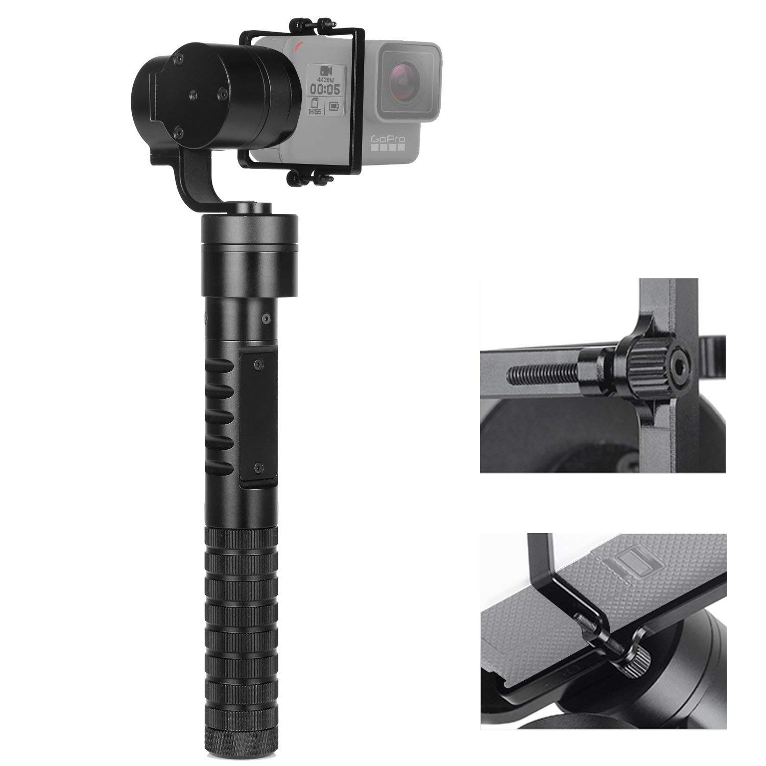 New AFI A5 Professinal Updated 3 Axis Handheld Gimbal Action Camera Stabilizer Gimbal Selfie Stick for GoPro Hero 6 5 4 3+ fpv 3 axis cnc metal brushless gimbal with controller for dji phantom camera drone for gopro 3 4 action sport camera only 180g