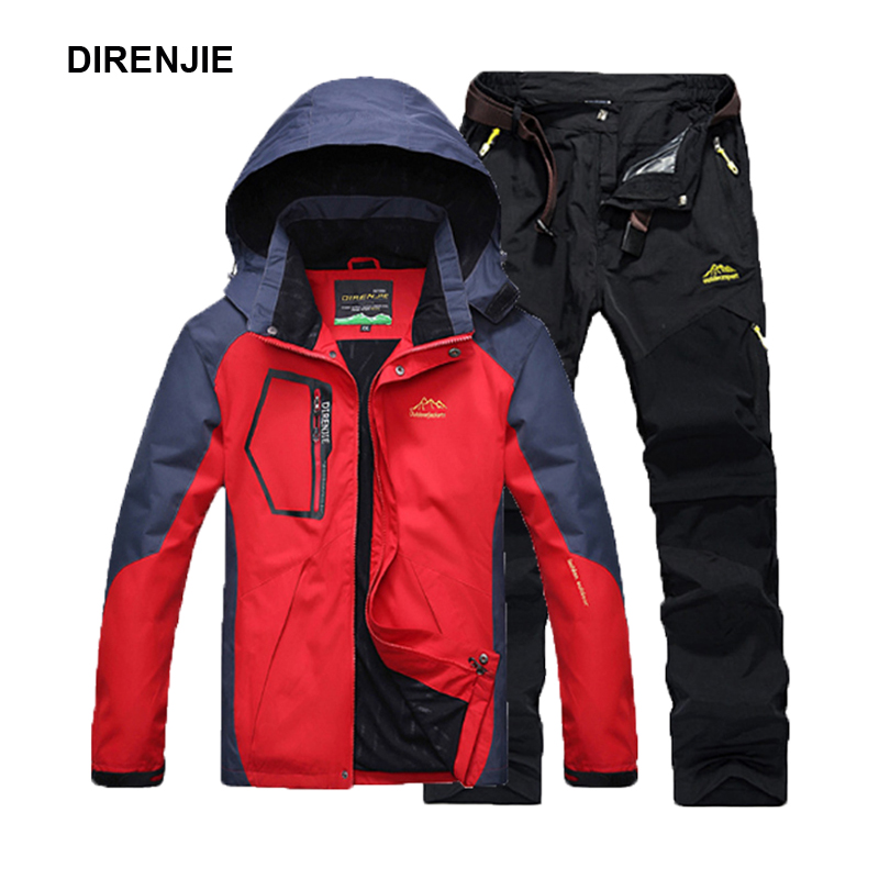 DIRENJIE Men Summer Fishing Hiking Camping Climbing Trekking Outdoor Travel Quick Dry Jackets Trousers Suit Pant