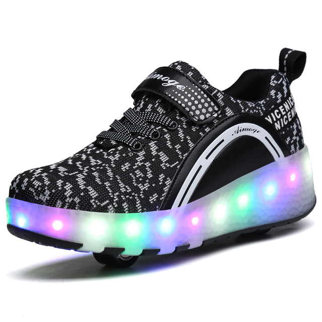 Children Shoes With LED Lighted Breathable Boys & Girls Fashion Sneakers Sports Casual For Kids Size 29-41