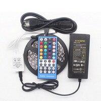 5050 RGB White+ RGB Warm LED Strip 5M 300 Led SMD 40 Keys IR Remote Controller 12V 5A Power Adapter Flexible Light indoor light