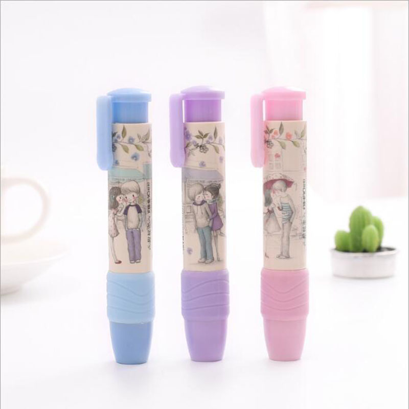 Lovely Fashion KAWAI Eraser Art Painting Special Children Prize Students Writing School Office Stationery Random Color 1pc