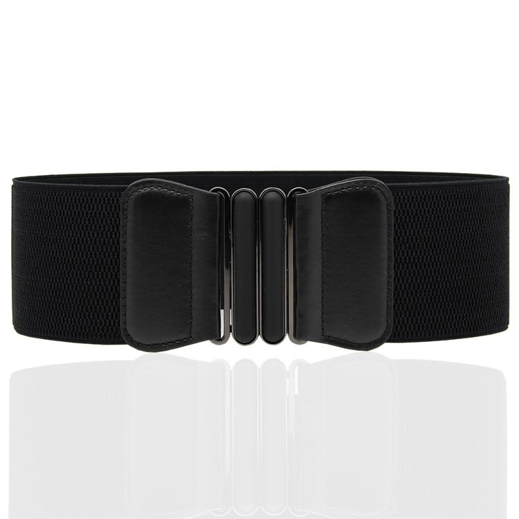Fashionable Joker New Style To Buckle Waist To Cover Dress Adornment Black Wide Belt Skirt Belt 7.5*65