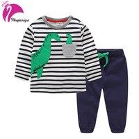 Boys Set Cartoon Sports Suit For Boy Casual Cotton Toddler Boy Clothing Dinosaur Set Kids Tops