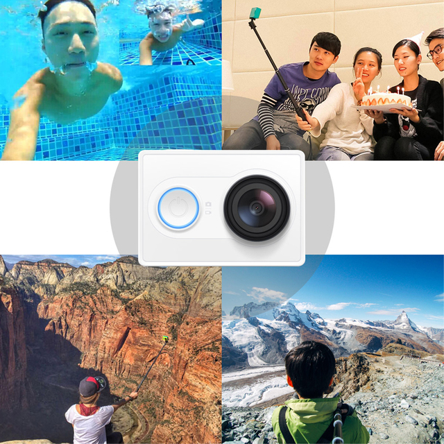 xiaomi yi action camera yi 1080p sport cam camera outdoor Kamera microsd tf memory card support app wifi remote control cameras 1