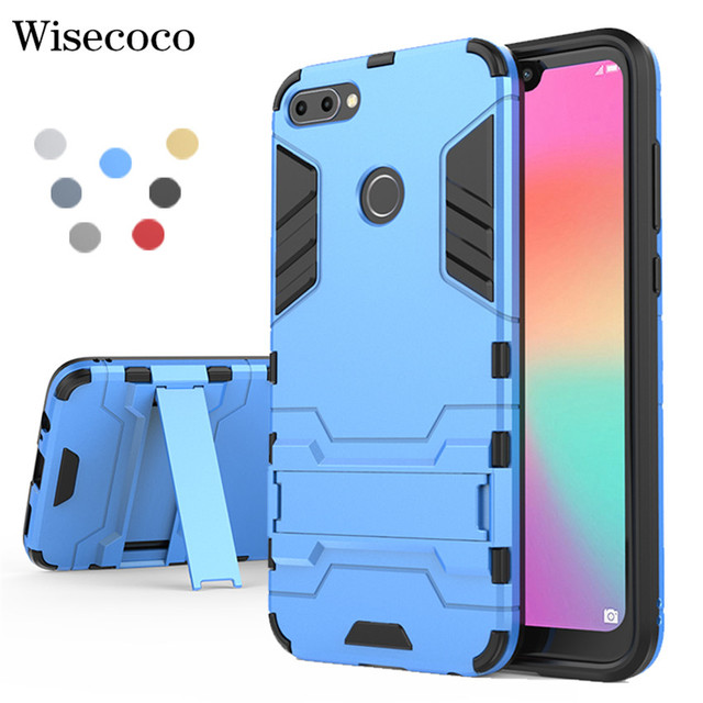sports shoes 9e5c4 4d782 US $4.56 8% OFF|For Huawei P20 P10 P8 Lite Pro P Smart Y5 Y7 Y8 Y9 2017  2018 Mate 10 Case Shockproof Armor Stand Phone Cases for Honor 9 9I V10-in  ...