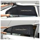 2Pcs Car Side Window Sunshade Curtain Black Mesh UV Protection Covers Visor Shield Solar Mosquito Dust Protection Car-covers