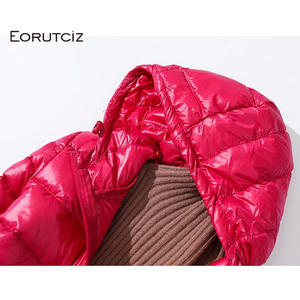 Image 5 - Eoretciz 겨울 긴 코트 여성 플러스 크기 7xl 울트라 라이트 따뜻한 까마귀 자 켓 빈티지 블랙 가을 오리 코트 lm171