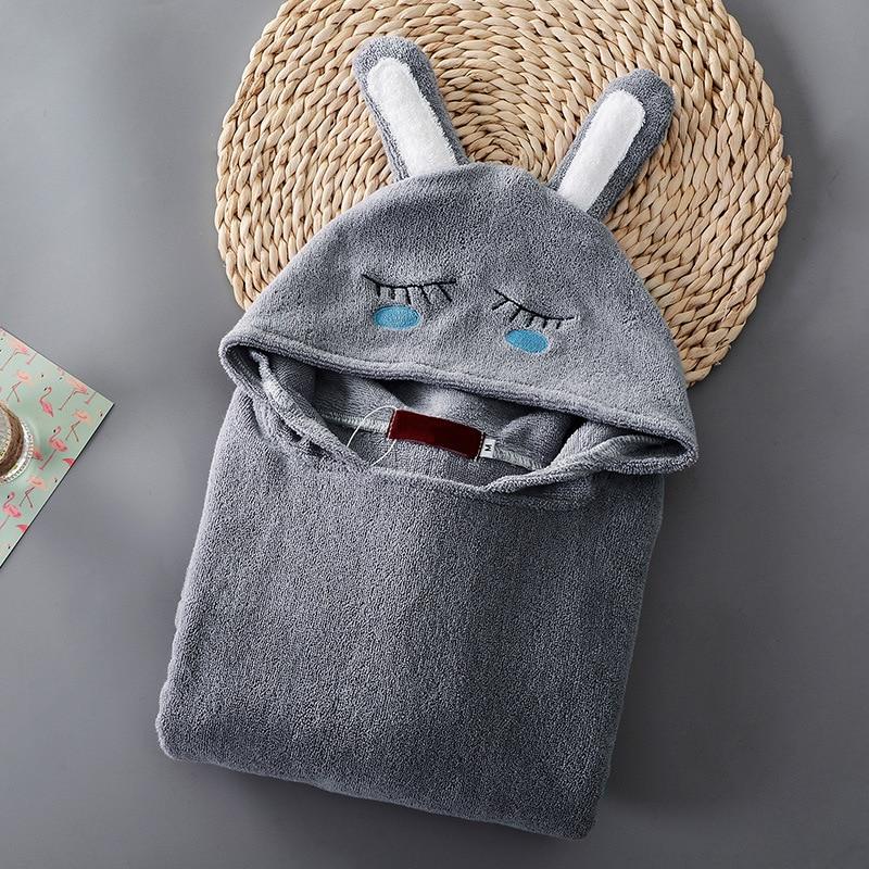 New Children Bathrobe 100% Cotton Beach Towel Kids Hooded Cartoon Cloak Beach Towel Animal Baby Boys Kids Swimming Bath Towel