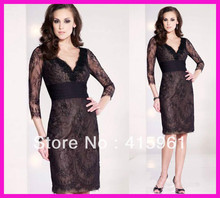 New Arrival Brown Lace Short Knee Length Mother of the Bride Dresses With Long Sleeves M1548 debra brown lee the mackintosh bride