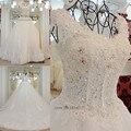 Vestido Noiva роскошные бальное платье свадебные платья 2016 принцесса свадебные платья с длинными поезд платье невесты Большой размер Trouwjurk