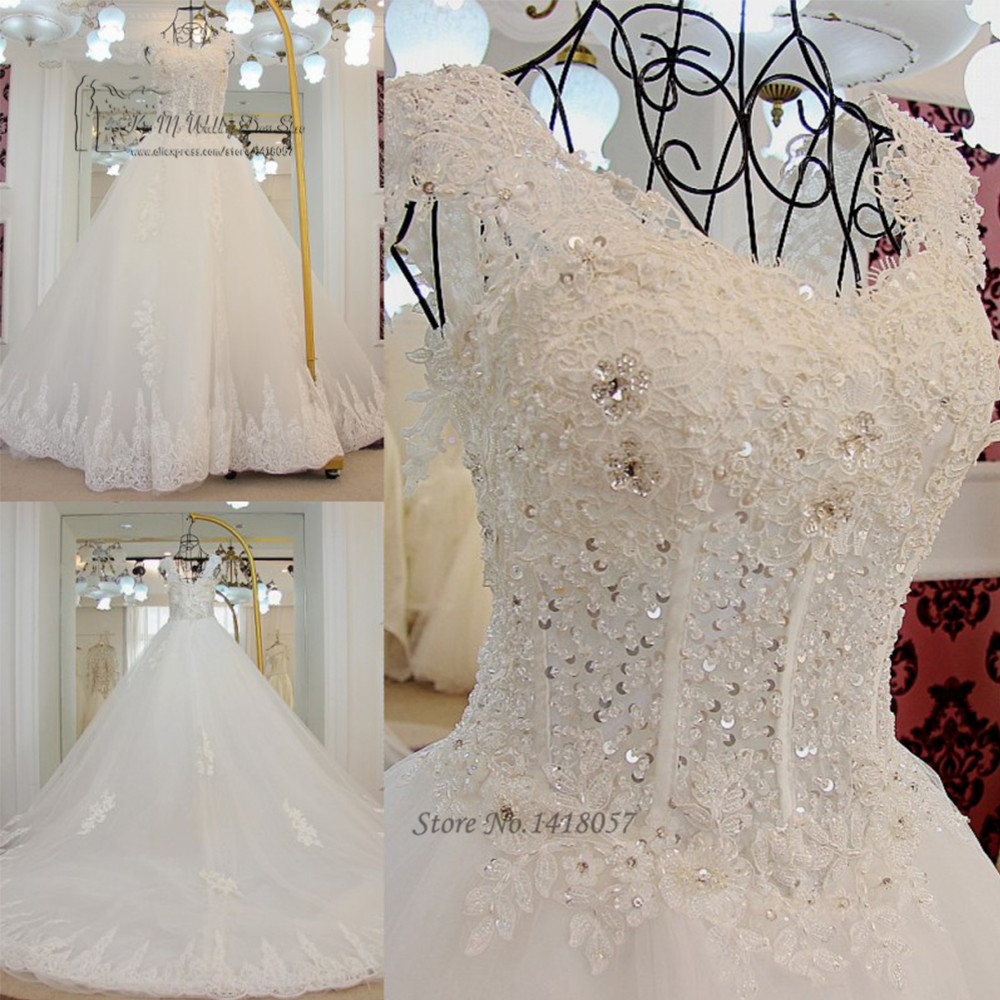 Vestido De Noiva Luxury Ball Gown Wedding Dresses Lace
