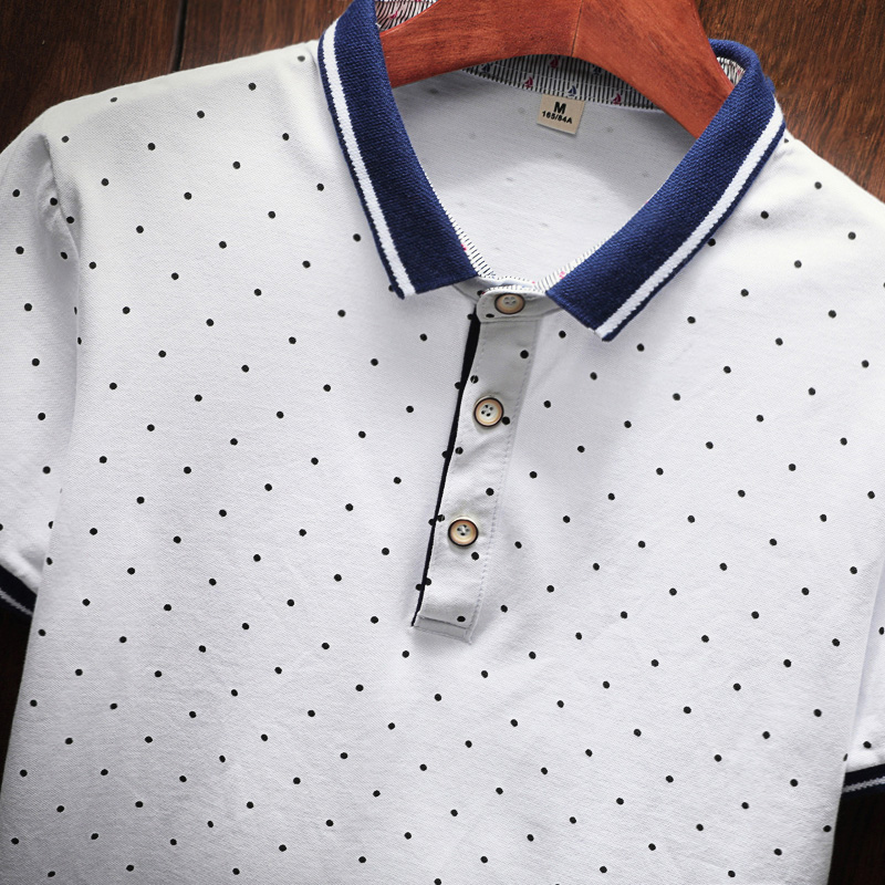 2018 New Brand Polos Mens Printed POLO Shirts Cotton Short Sleeve Camisas Polo Casual Stand Collar Male Polo Shirt 4