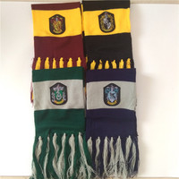 Child Boy Girl Scarves Harri Potter Cosplay Costume Series Cotton High Quality Scarves Cute Wraps Badge