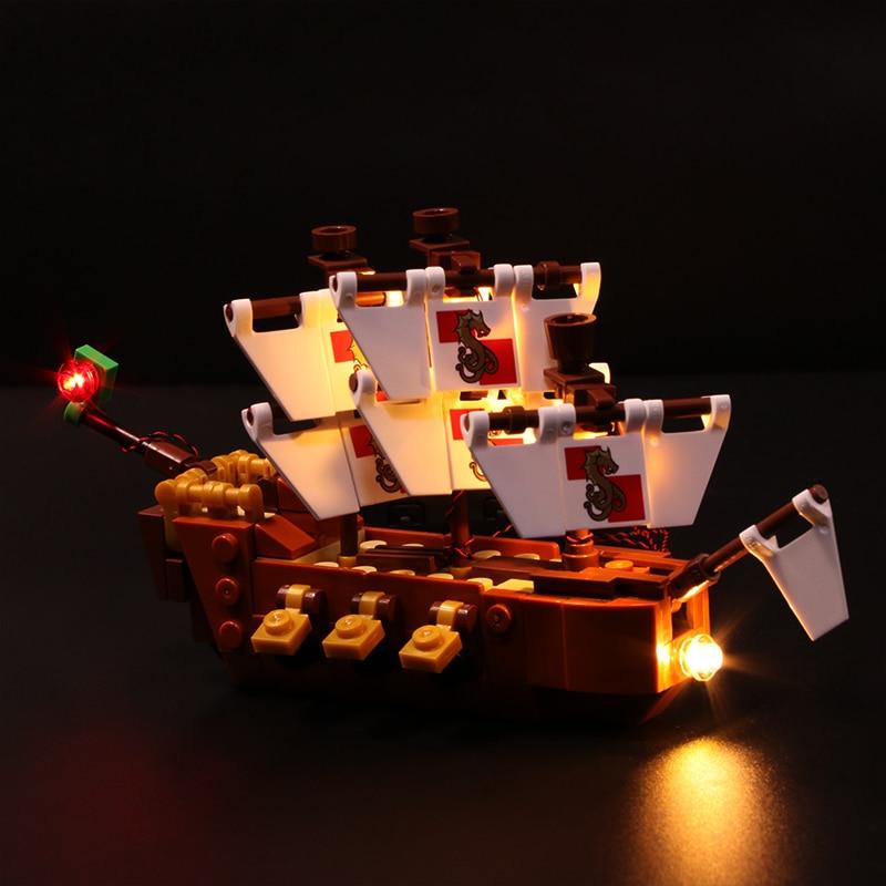 Vonado Led Light Set for Lego 21313 Ideas Serie Compatible 16051 Creator Ship in a Bottle Building Blocks Bricks only LED Light