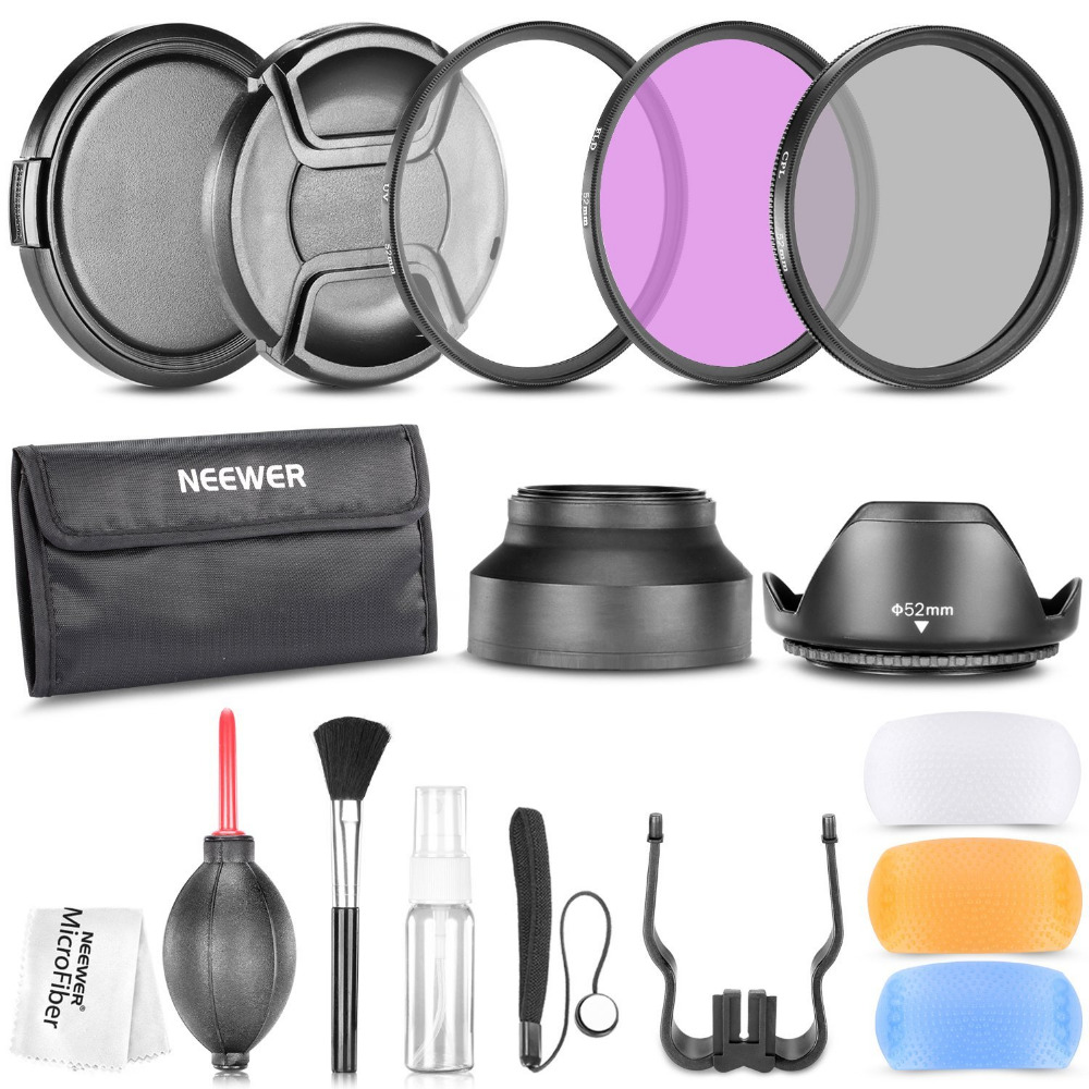 Neewer 52MM Professional Accessory Kit for NIKON D7100 D7000 D5200 D5100 D5000 D3300 D3200 D3100 D3000 D90 D80 DSLR Cameras