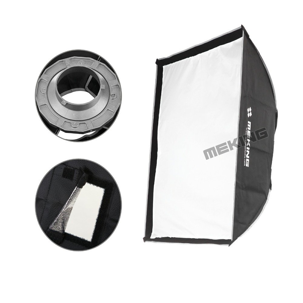 Meking Softbox 100cmx100cm /40x40 Strobe mono light Softbox with Speed ring Bowens Mount photographic Photo Studio Accessories meking octagon softbox 170cm 67 strobe mono light softbox with speed ring bowens mount for photographic