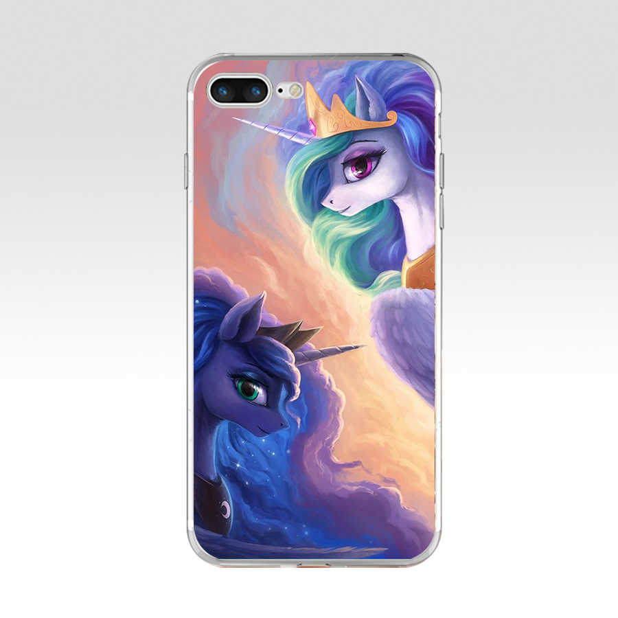 230FG с рисунком из мультфильма «Мой Маленький Пони» юбкой всех цветов радуги облака дизайн силиконовый чехол-накладка из мягкого ТПУ для Apple iPhone5 5S se 6 6s 7 8 plus x xr xs max