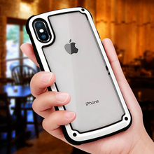 Transparent Shockproof Armor Phone Case for iPhone X XS Max XR Luxury Silicone Cover For 8 6 6s 7 plus Cases