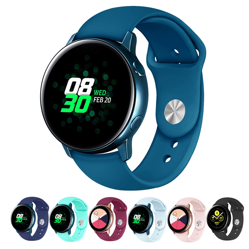 Sport Straps For Samsung Galaxy Watch Active Strap 20mm Watch Strap Silicone Bands For Galaxy Watch 42mm Smart WatchBands