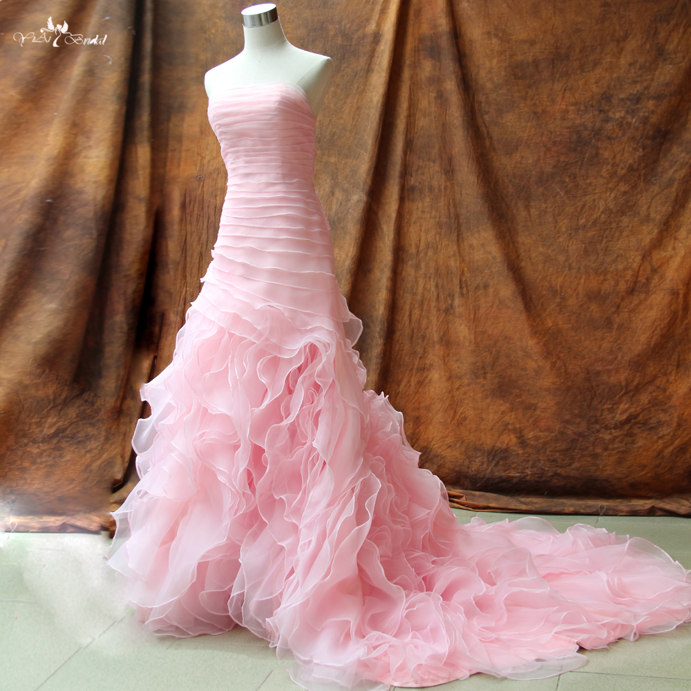 88a52d6f2c06c ᓂRSW142 Personnalisé Belle Organza À Volants robe De Mariée - a863