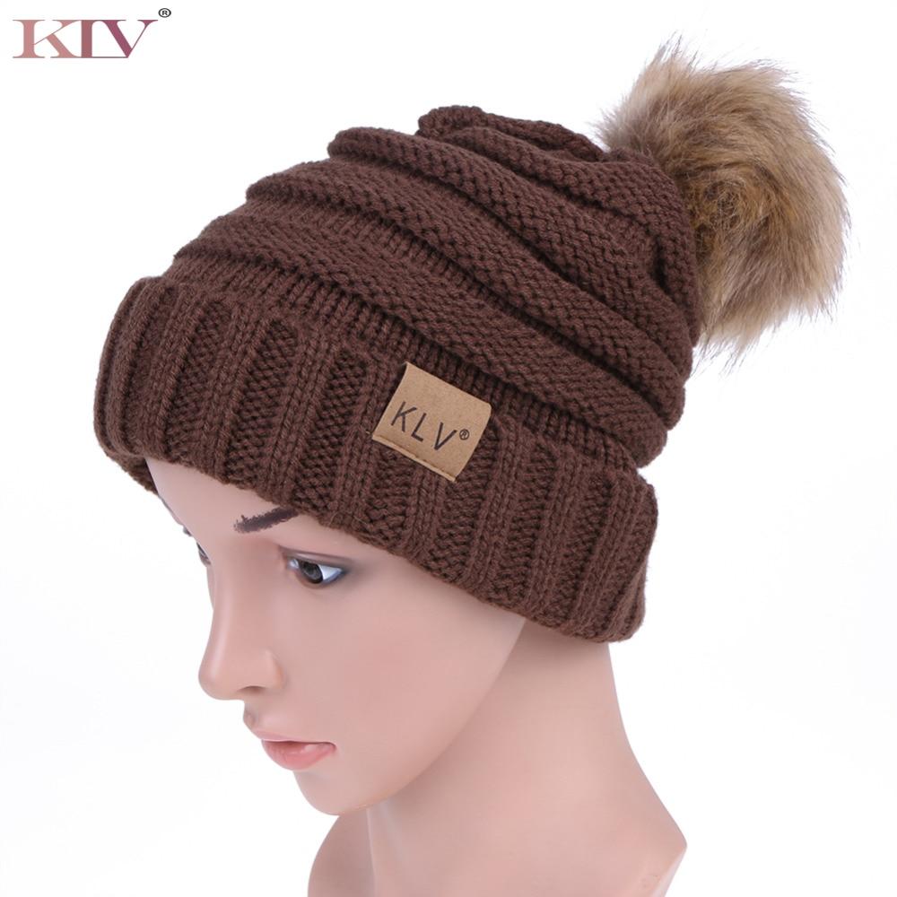 Winter women Men hat the hundreds Brand New High-Quality Hair Ball Hat Knitting Thicken Cap Fur Ball Hat