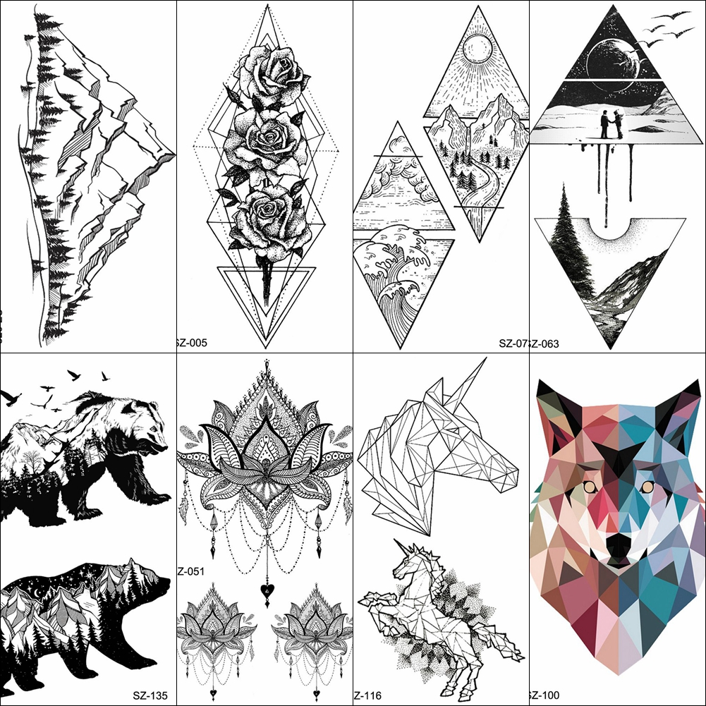 0fa7672d7 YURAN 500 Pieces Wholesale Waterproof 10x6CM Tattoo Temporary Fox Planet  Body Art Tatoo Sticker Men Women Arm Neck Fake Tattoos-in Temporary Tattoos  from ...