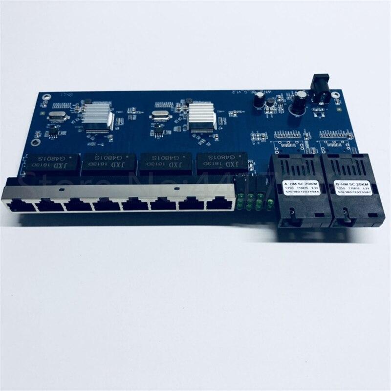 Image 2 - 10/100/1000M Gigabit Ethernet switch Ethernet Fiber Optical Media  Converter Single Mode 8 RJ45 UTP and 2 SC fiber Port Board PCB-in Fiber  Optic Equipments from Cellphones