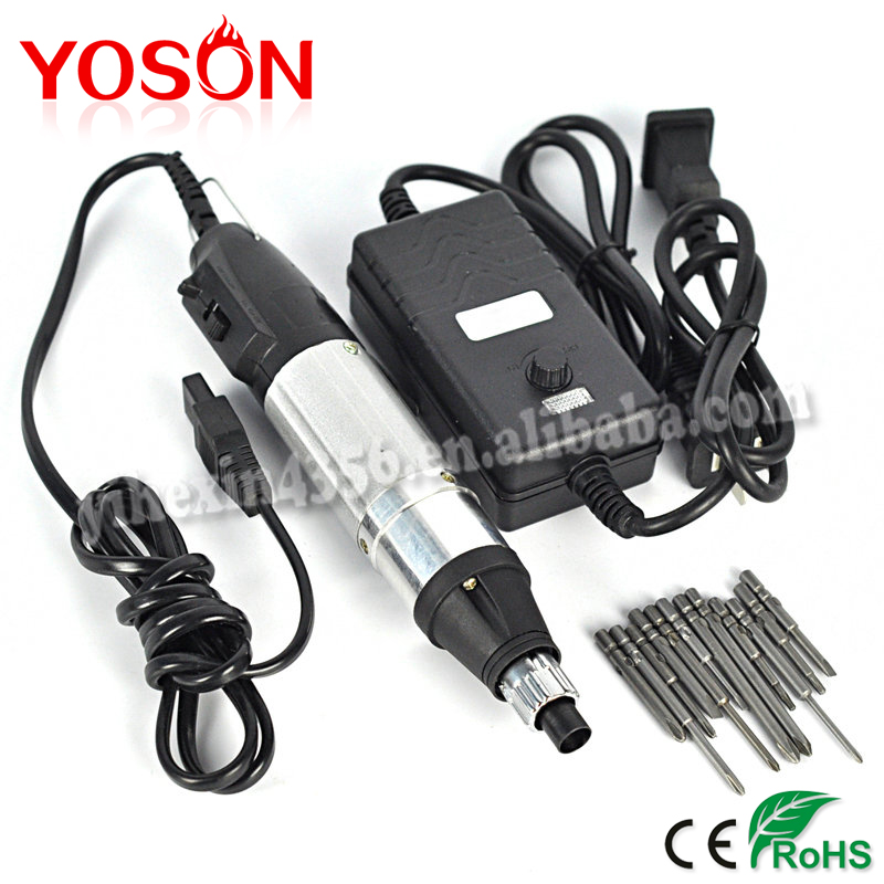 1Set Hot Worldwide  DC Powered Electric Screwdriver 800 + Small Power Supply + 10 Bits Hand Tools  цены