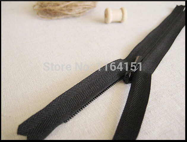 15 шт./лот нейлон невидимые молнии 40 см молния с закрытым концом для швейных принадлежностей черный легкий для Штаны юбка и одежда