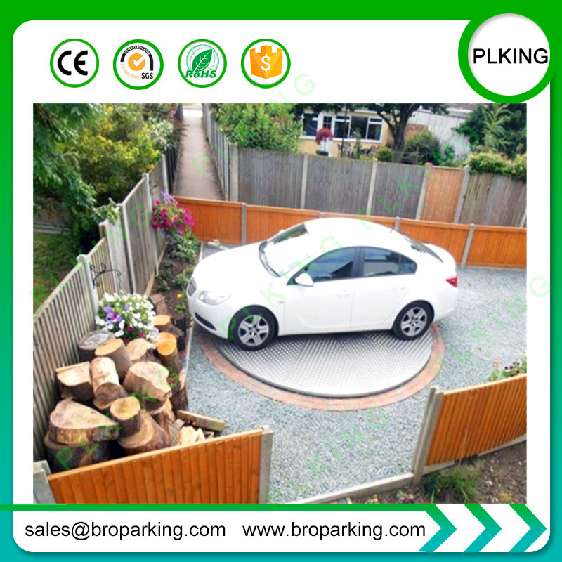 Outdoor Car Parking Lift Narrow Limited Way Access Tools Smart Rotary Car Turntable