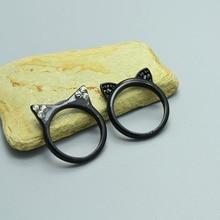 Cute Black Kitty Ears Ring
